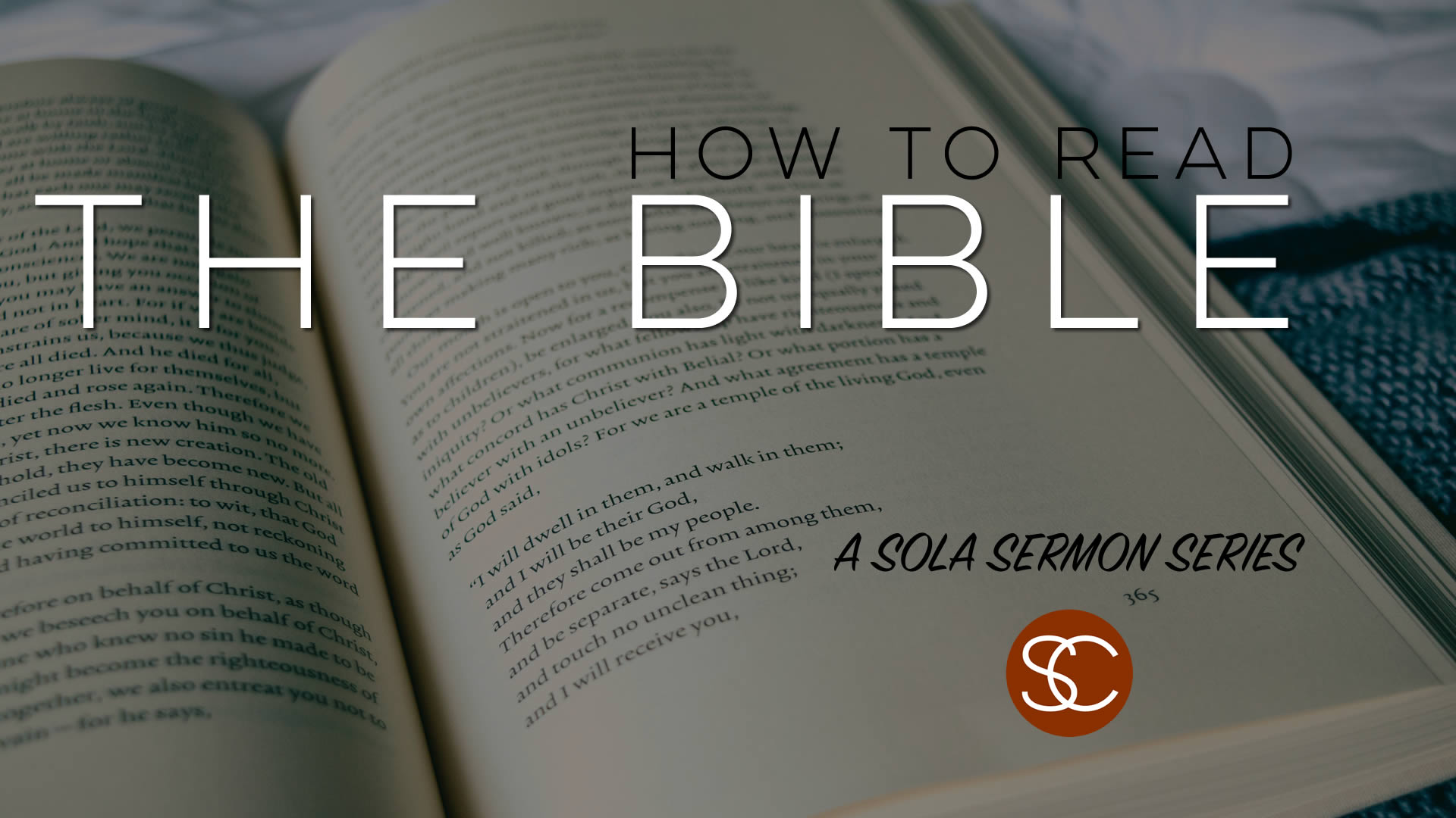 Glenn Pauuw - How to Read Your Bible